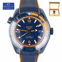 Omega Seamaster Planet Ocean pre-owned 45mm Blue Date Rubber