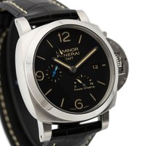 Panerai Luminor 1950 3 Days GMT Power Reserve Automatic Stahl 44mm Schwarz Arabisch Deutschland, Berlin
