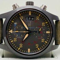 IWC Pilot Chronograph Top Gun Miramar подержанные 46mm Cерый Хронограф Дата Ткань