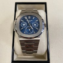 Patek Philippe Nautilus White gold 40mm Blue No numerals