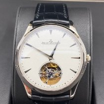 Jaeger-LeCoultre Master Ultra Thin Tourbillion Белое золото 40mm Белый