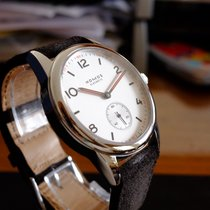 NOMOS Club Automat Steel White Arabic numerals United States of America, Indiana, goshen