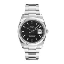 Rolex Oyster Perpetual Date Steel 34mm Black No numerals United States of America, New York, New York