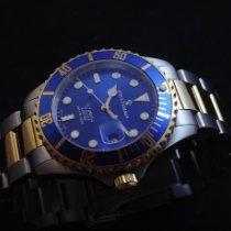 Revue Thommen Diver Gold/Stahl 42mm Blau Keine Ziffern