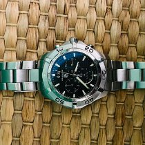 TAG Heuer Aquaracer 300M pre-owned 43mm Black Chronograph Date Steel