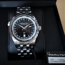 Hamilton Jazzmaster GMT Auto Acier 42mm Noir