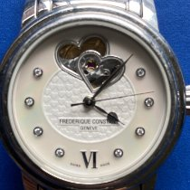 Frederique Constant Ladies Automatic Double Heart Beat Steel 34mm Mother of pearl No numerals
