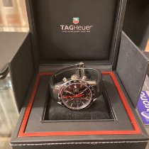 TAG Heuer Carrera Calibre 16 pre-owned 41mm Black Chronograph Date Tachymeter Rubber
