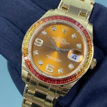 Rolex Pearlmaster Gulguld 39mm Orange