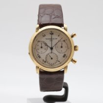 Frederique Constant Yellow gold Automatic Silver Roman numerals 36mm pre-owned