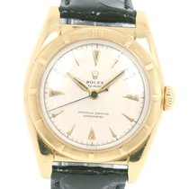 Rolex Yellow gold Automatic Silver 39mm pre-owned Bubble Back