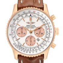 Breitling Rose gold Automatic Silver 39mm pre-owned Navitimer