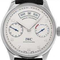 IWC Portuguese Annual Calendar Acero 44mm Plata