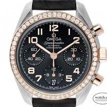 Omega Speedmaster Ladies Chronograph Acero y oro 38mm Gris Arábigos