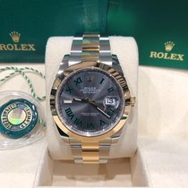 Rolex Datejust Желтое золото 41mm Cерый Без цифр