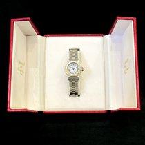 Cartier Santos (submodel) подержанные 25mm Белый Дата Золото/Сталь