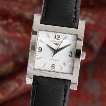 Longines DolceVita pre-owned 27.5mm White Date Calf skin