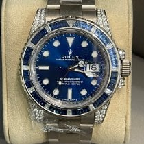 Rolex Submariner Date White gold Blue No numerals