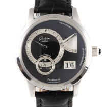 Glashütte Original Platinum Manual winding Black 39mm pre-owned PanoReserve