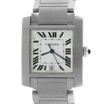 Cartier Tank Française Steel 32mm Silver Roman numerals United States of America, New York, Lynbrook