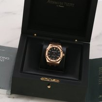 Audemars Piguet Royal Oak Selfwinding Oro rosa 37mm Negro Sin cifras