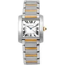 Cartier Tank Française Gold/Steel 28mm Silver Roman numerals United States of America, California, Los Angeles