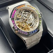 Audemars Piguet Royal Oak Double Balance Wheel Openworked Or blanc 37mm Transparent