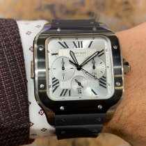 Cartier Santos (submodel) Steel 43.3mm Silver Roman numerals United States of America, Pennsylvania, Lancaster