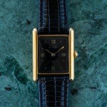 Cartier Tank Vermeil 23mm Black Roman numerals