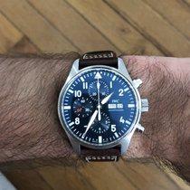 IWC Pilot Chronograph Acier 43mm Bleu Arabes France, Paris