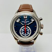 Patek Philippe Annual Calendar Chronograph occasion 40.5mm Bleu Date Calendrier annuel Cuir