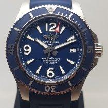 Breitling Superocean 42 occasion 42mm Bleu Date Caoutchouc