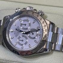 Rolex Daytona Acero 40mm Blanco Sin cifras