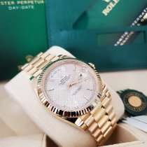 Rolex Day-Date 40 Yellow gold 40mm Silver United States of America, New Jersey, Totowa