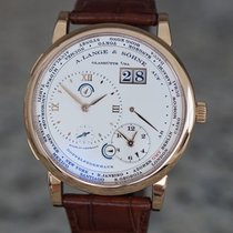 A. Lange & Söhne pre-owned Manual winding 41.9mm Silver Sapphire crystal 3 ATM