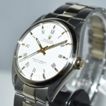 Rolex Oyster Perpetual 34 Gold/Steel 34mm White Roman numerals