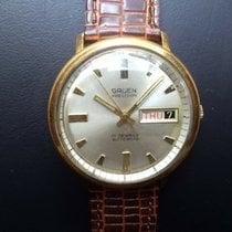 Gruen Precision Gold/Steel 37mm White No numerals United States of America, New Jersey, Upper Saddle River
