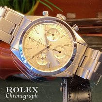 Rolex Chronograph Steel 36.5mm Silver No numerals