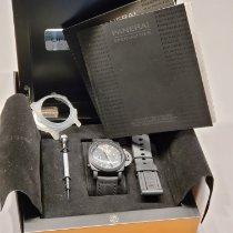 Panerai Cerámica Cuerda manual Negro Arábigos usados Luminor 1950 8 Days Chrono Monopulsante GMT