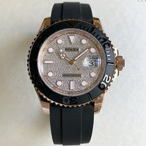 Rolex Rose gold Automatic Black No numerals 40mm new Yacht-Master II