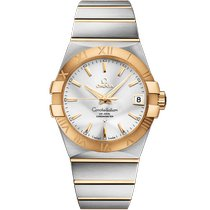 Omega Constellation Men Gold/Steel 38mm Silver Roman numerals United Kingdom, London