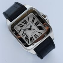 Cartier Santos 100 pre-owned 38mm Leather