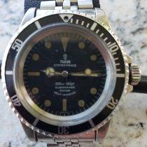 Tudor Steel Automatic Black No numerals pre-owned Submariner