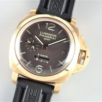 Panerai Luminor 1950 8 Days GMT Rose gold 44mm Brown