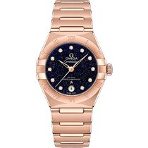 Omega Rose gold Automatic Blue Roman numerals 29mm new Constellation