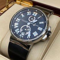 Ulysse Nardin Marine Chronometer Manufacture occasion 45mm Noir Date Caoutchouc