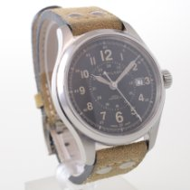Hamilton Khaki Field Officer Steel 40mm Arabic numerals