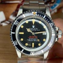 Rolex Sea-Dweller Сталь 40mm Красный Без цифр