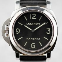 Panerai Luminor Base Сталь 44mm Черный Aрабские