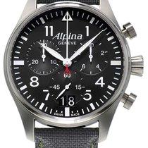 Alpina Startimer Pilot neu Uhr mit Original-Box und Original-Papieren AL-372B4S6